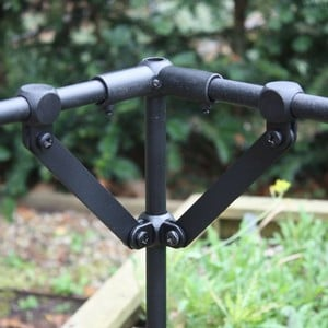 The Harrod Slot Lock Brace Kits In Black Are Ideal For Reinforcing Your 16mm Diameter Aluminium Tubing Vegetable Cage And Crop Protection Frames When