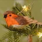 Bristle Robin Tree Decoration by Gisela Graham
