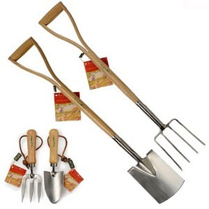 these Quality Budding Gardener Tools Are Miniature Versions Of The Real Thing Quality Stainless Steel Blades With Strong Wooden Handles And Built To T