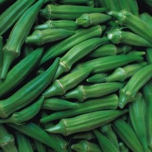Okra Clemsons Spineless 5 Plants Organic