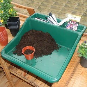 This Tough One Piece Potting Tray With Integral Shelf Is An Essential Garden Accessory To Make Potting And Planting Up Easy. Mess And Dirt Are Confine
