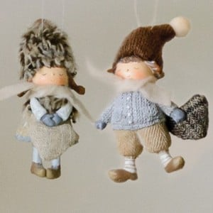 Boy & Girl Christmas Tree Decorations By Sia