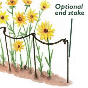 End Stakes Are Designed To Be Used With The Harrod Scalloped Link Stakes And Curved Link Stakes, These Optional Additional Supports Are Simple To Fit,