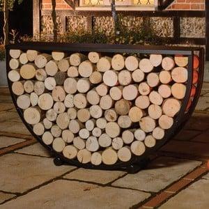 Semi Circular Steel Log Store