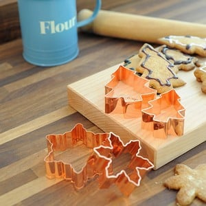 Christmas Copper Plated Cookie Cutters