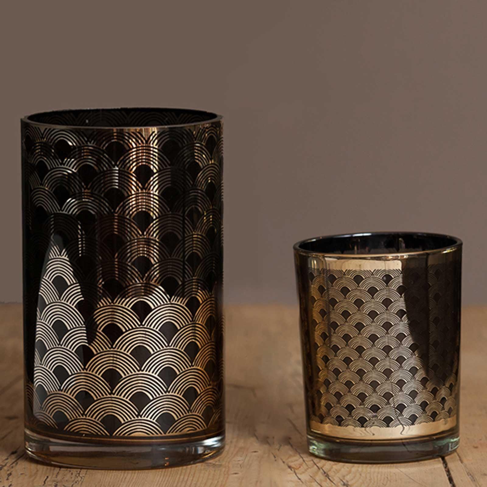 Black Gold Glass Candle Holders Harrod Horticultural