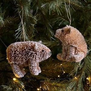 Harrod Horticultural Bristle Bear Tree Decorations (set Of 2) By Gisela Graham