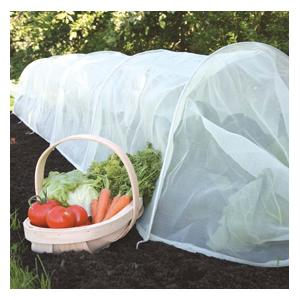 The Micro Mesh Tunnel Uses Fine 0. 6mm Square Polyethylene Micro-mesh Material Which Is An Ideal Physical Barrier Against Weather, Birds, Insects And