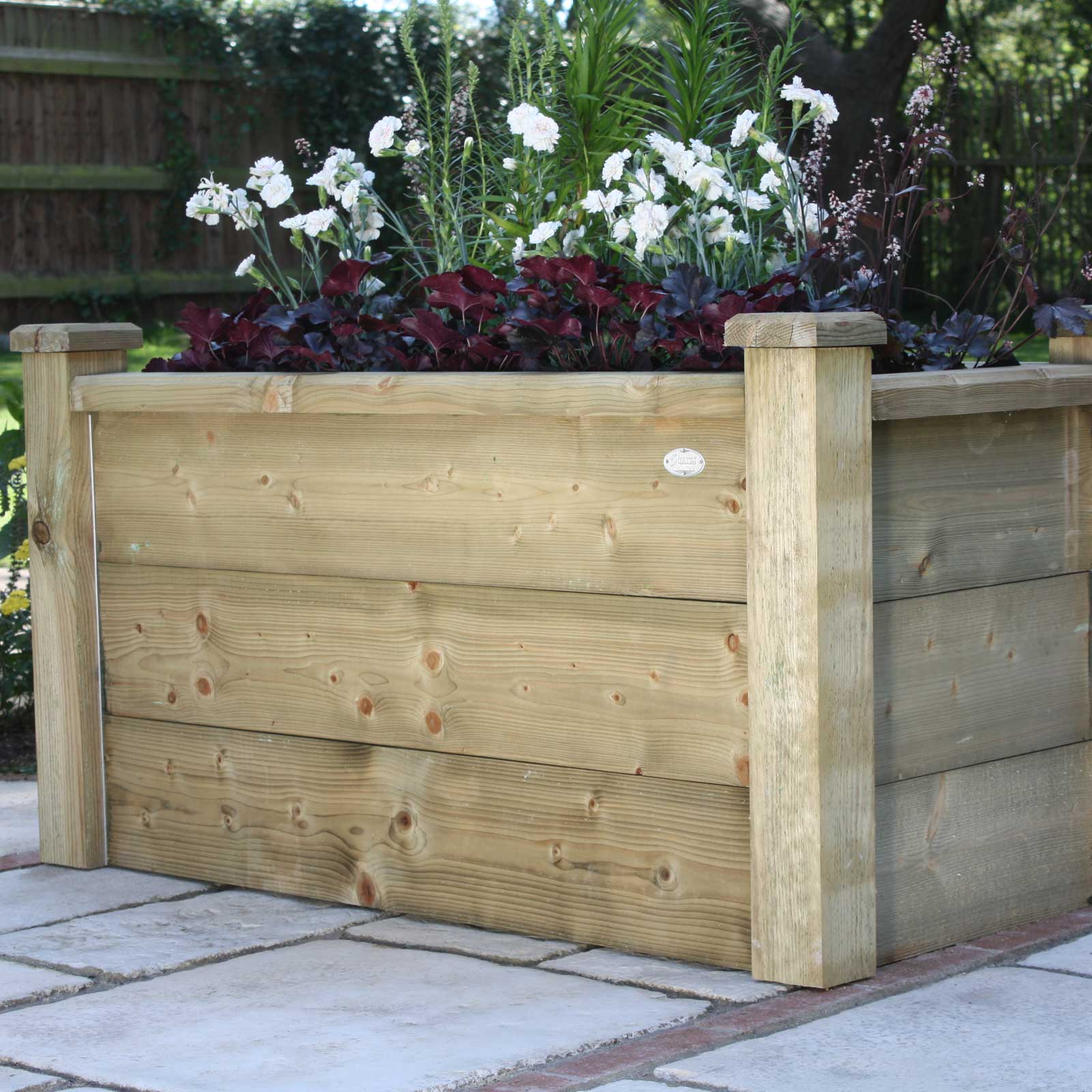 Made To Measure Bespoke Wooden Planters: Rectangle Wooden Planters