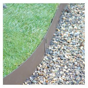Brown Flexible Steel Lawn Edging