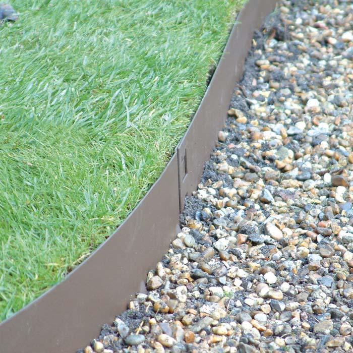 Brown flexible steel lawn edging harrod horticultural uk for Landscape edging