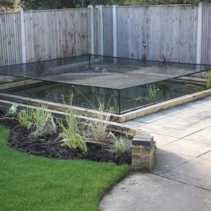 Raised Steel Pond Cover