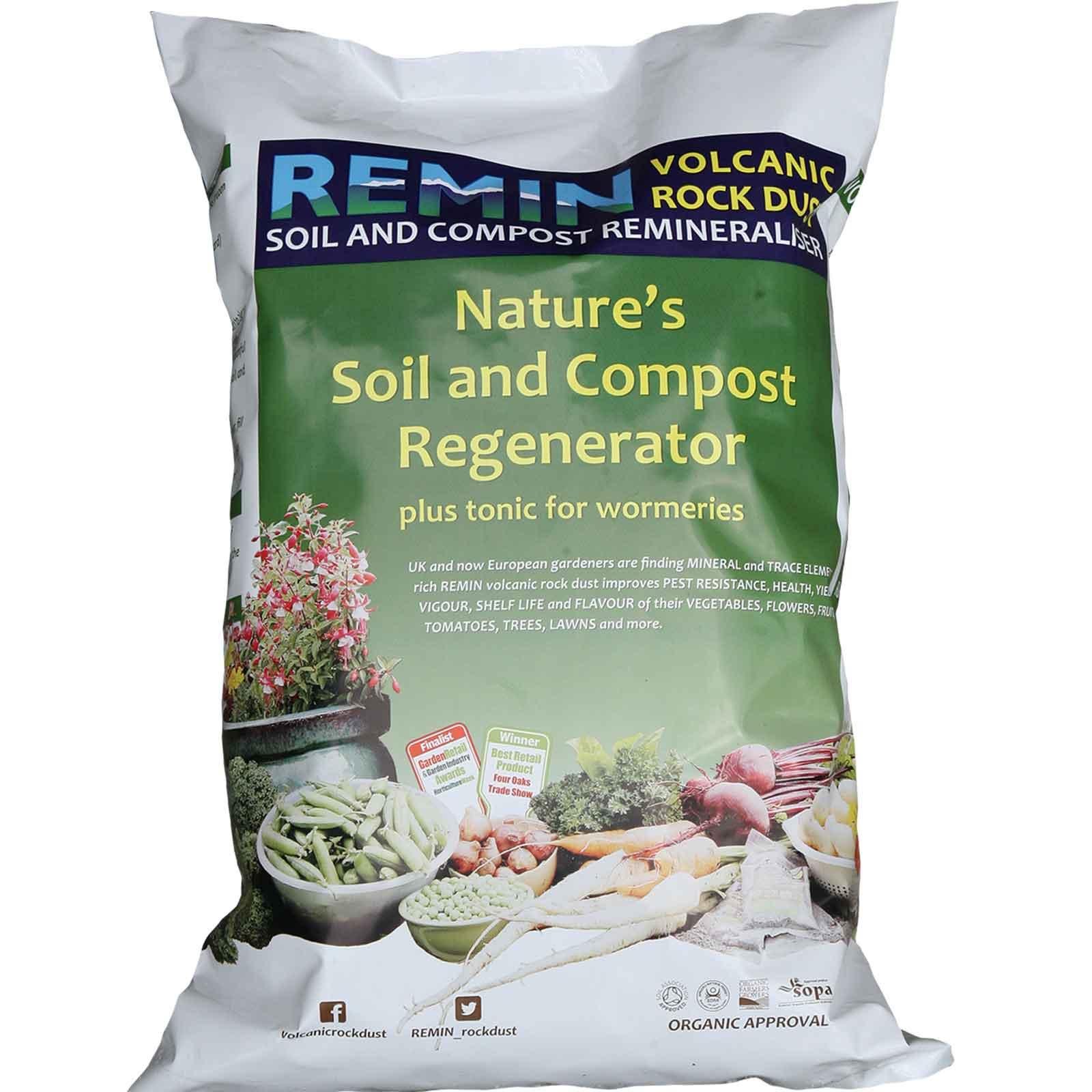 Remin Volcanic Rock Dust - 20kg Bag