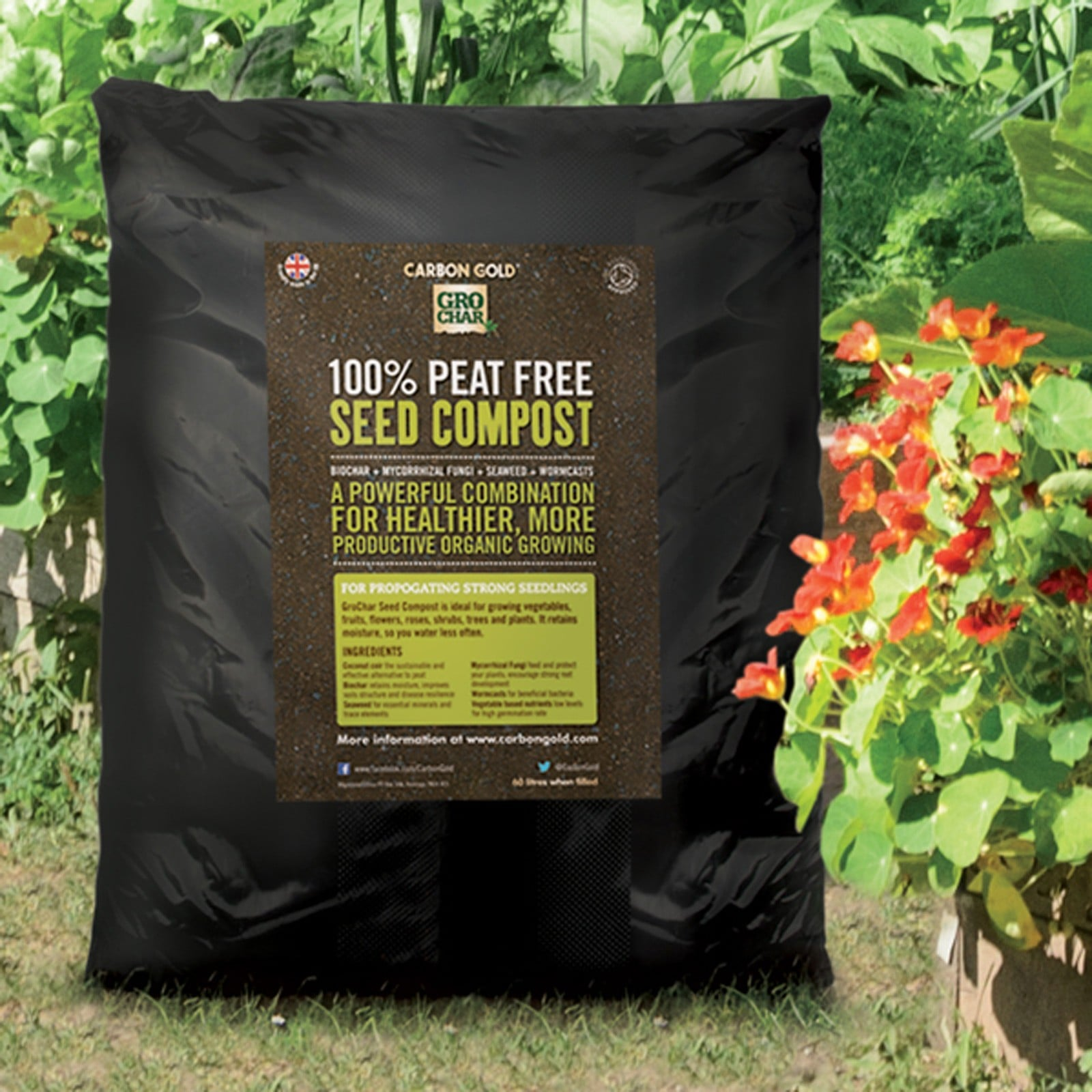 This Soil Association Approved Grochar Biochar Seed Compost Is The Growing Medium All Seeds And Gardeners Alike Have Been Waiting For; Packed Full Of