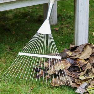 The Burgon And Ball Lawn Rake Is Endorsed By The Rhs, Has A Long Lightweight Handle And Stainless Steel Springy Round Tines For Easy And Effective Rem