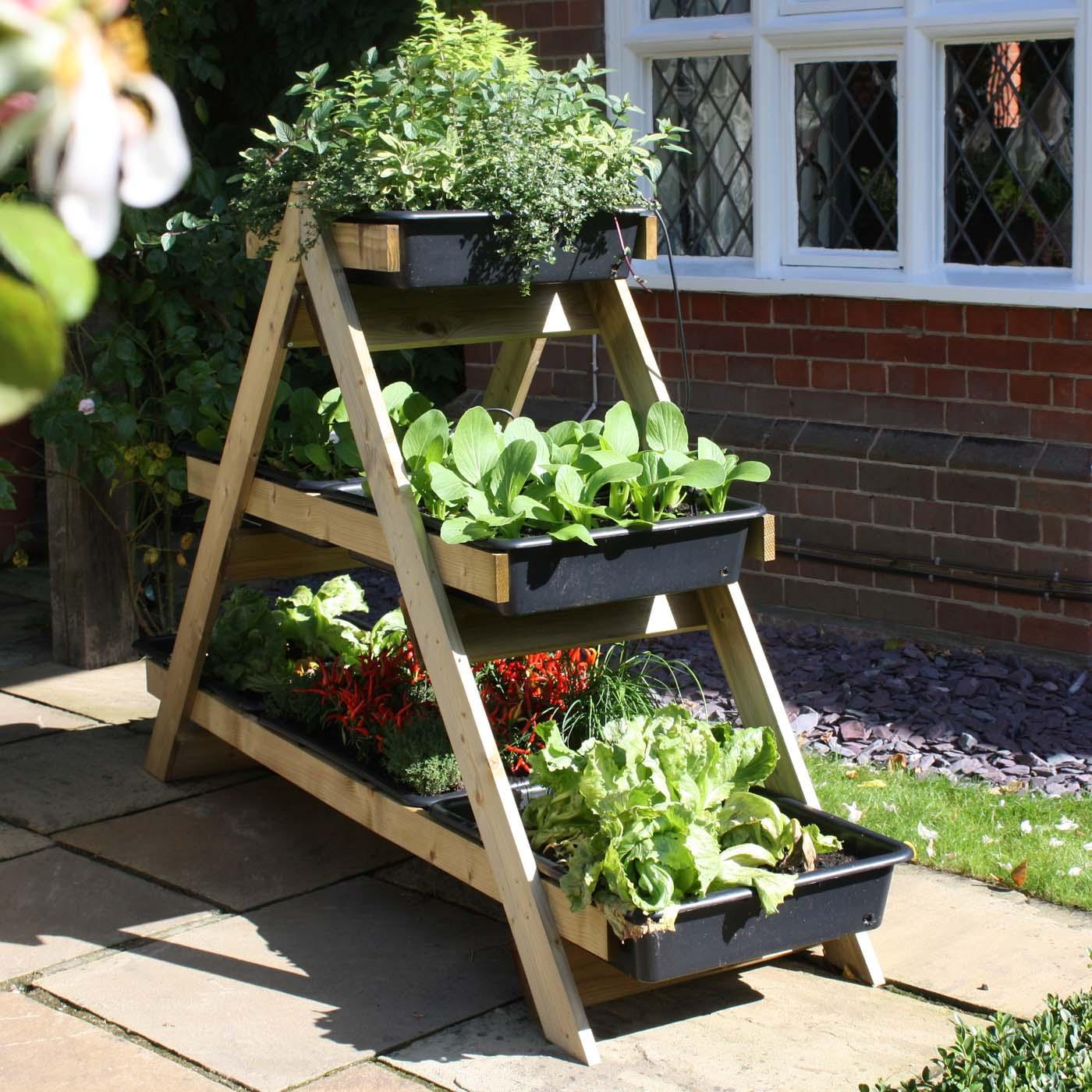 Maxi a frame vegetable garden garden planters at harrod for Vegetable garden planters