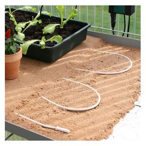 These Electric Soil Heating Cables Can Be Used To Turn Greenhouse Staging Into Your Plant Propagation Headquarters, Just Choose The Size Of Cable Best