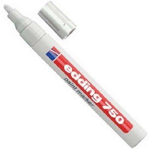 This White Garden Paintmarker Pen Can Be Used For Marking Almost All Surfaces, Ideal For Dark, Smooth, Transparent Surfaces Such As Glass, Metal Or Pl
