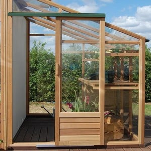 Growhouse Cedar 6ft X 8ft Lean-to Greenhouse