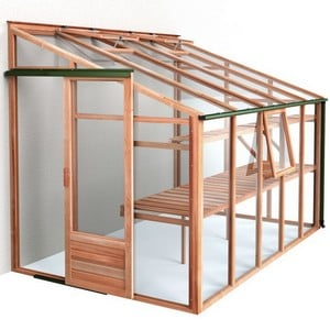 Growhouse Cedar 6ft X 10ft Lean-to Greenhouse