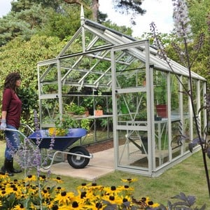 The Harrod Superior Greenhouse In Willow Grey Is An Elegant And Strong Greenhouse Which Comes With A 25 Year Framework Guarantee. This High Quality Gr