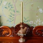 Gold Partridge Candle Stick by Gisela Graham