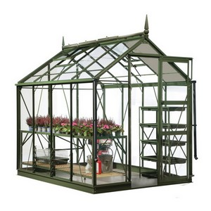 The Harrod Superior Greenhouse In Olive Green Is An Elegant And Strong Greenhouse Which Comes With A 25 Year Framework Guarantee. This High Quality Gr