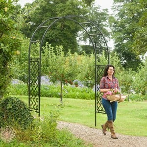 our Roman Half Lattice Garden Arch Is Ideal For Displaying Fragrant Climbing Flowers To Create A Stunning Feature In Any Garden, Perfect Over A Seatin