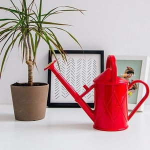 The Haws 1. 00 Ltr Red Plastic Watering Can Blends 21st Century Injection Moulding Technology With Unmatchable Traditional Styling And The Result Is A