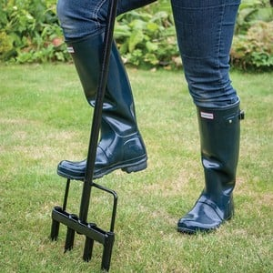 The Lawn Aerator Is Made From Plastic Coated Steel With Comfortable Handles And A Convenient Foot Plate To Make It Easy To Push Into The Lawn. For Bes