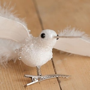 The Long Beak On This Charming White Hummingbird Decoration Really Gives This Little Bird Character. It Will Look Fantastic In The Christmas Tree, Eas