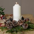 Iced Pine Cone Candle Holder by Floral Silk