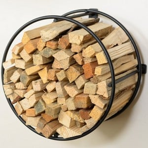 Harrod Circular Wire Kindling Holder wall Mounted