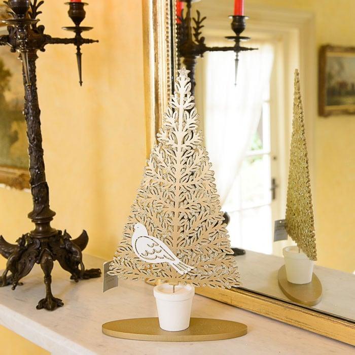 Gold Bird Christmas Tree Decorations : Gold christmas tree decorations harrod horticultural