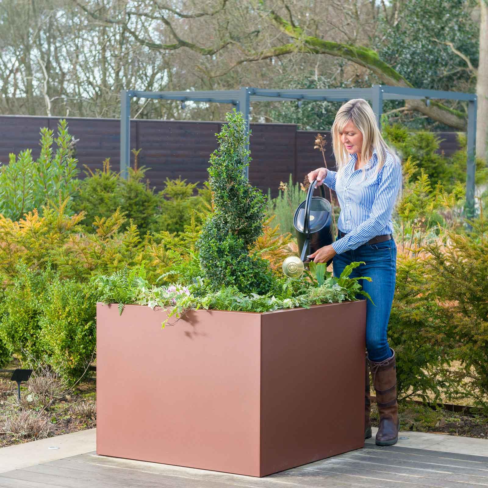 Harrod Square Metal Planters Corten Effect Harrod Horticultural