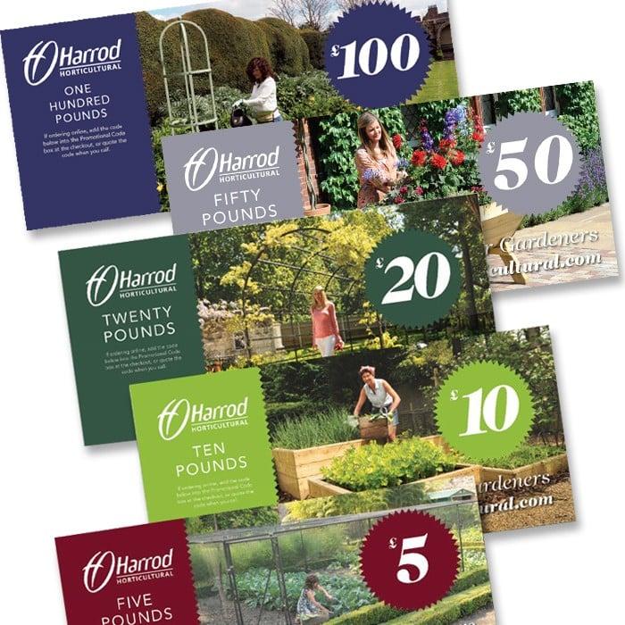 Gardening gift vouchers from harrod horticultural uk for Gardening gift vouchers
