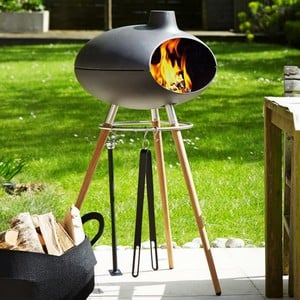 Small Outdoor Grill Forno With Tripod Stand