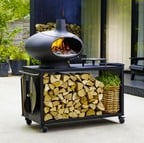 Large Outdoor Grill Forno with Table