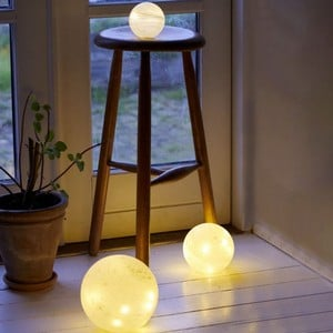 Frosted Glass Led Orbs With Multi Function Timer