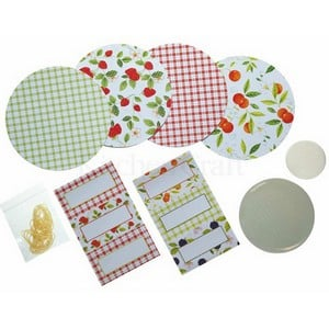 The Jam Making Sealing And Labelling Accessories Kit Contains A Selection Of Handy Covers, Bands And Wax Circles To Give Your Home-made Jam A Real Cou
