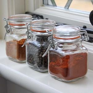 Kilner Clip Top Spice And Herb Jars