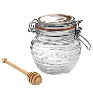 Kilner Honey Pot And Beechwood Dipper