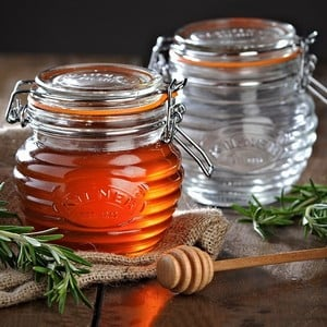 Kilner Honey Pot And Beechwood Dipper