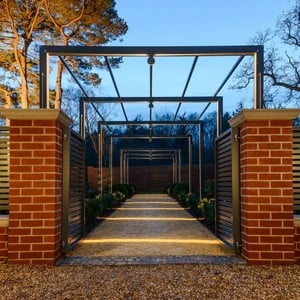 Contemporary Arch amp Pergola Walkway