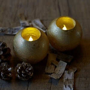 Round Led Candles With Multi Auto Timer (set Of 2)