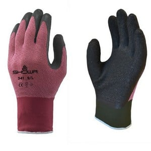 These Showa 341 Advanced Grip Gardening Gloves Offer The Ultimate In Comfort And Dexterity, Made From A Waterproof Latex With Breathable 13 Gauge Line
