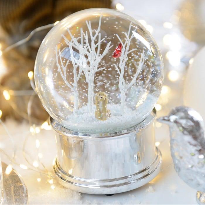 christmas musical snow globe by gisela graham - Christmas Musical Snow Globes