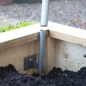The Hoop Brackets For Our Wooden Raised Beds Have Been Designed To Securely Hold Our Our High Top Hoops In Place In The Beds So That Netting Can Be Pu