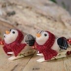 Tartan Birds Tree Decorations (Set of 2) by Gisela Graham