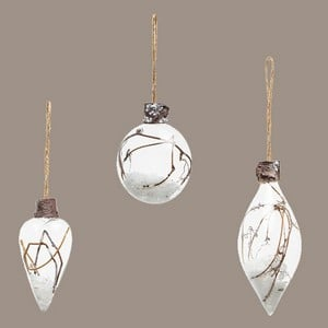 Twig Bauble Tree Decorations set Of 3 By Sia